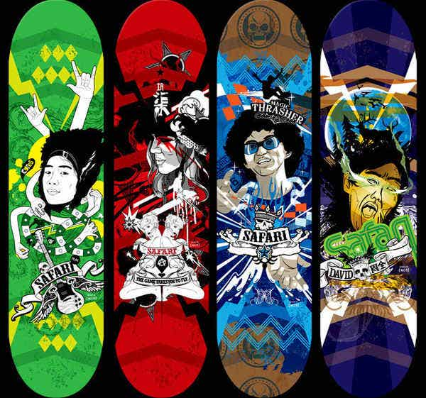 Beautiful Skateboard Designs
