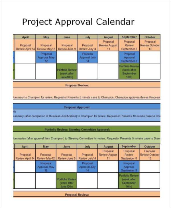project calendar templates 9 free word excel pdf format download free premium templates. Black Bedroom Furniture Sets. Home Design Ideas