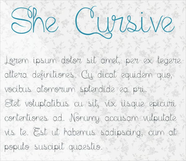 Beautiful Cursive Font