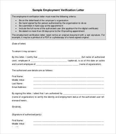 Employment Letter - 6+ Free Sample, Example, Format | Free