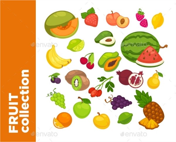 Vector Fruit Icons