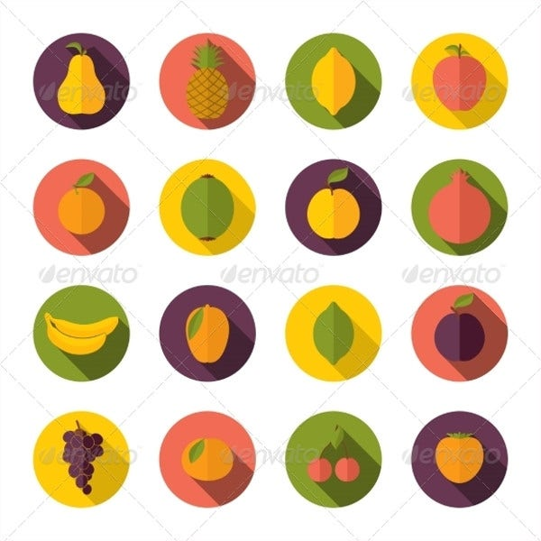 Circle Fruit Icons