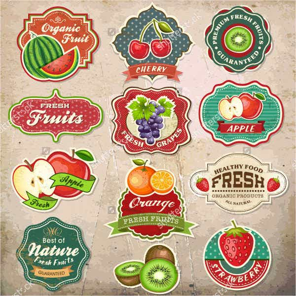 Vintage Fruit Icons