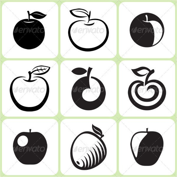 Apple Fruit Icons