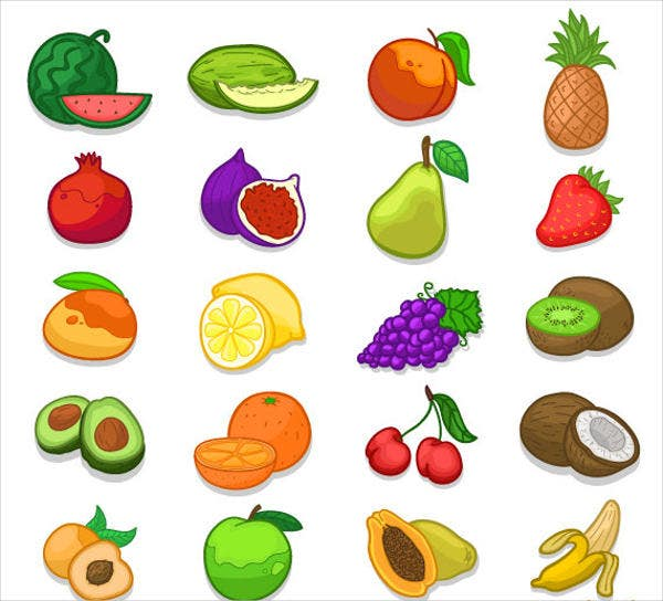 Healthy Vegetable Icons Set