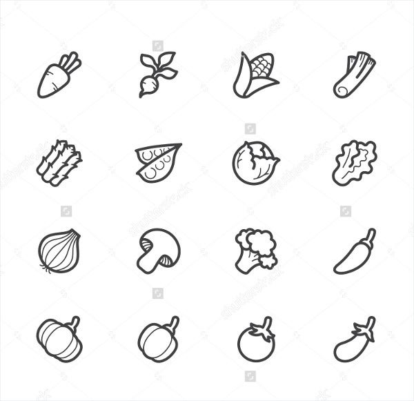 Vector Vegetable Icons