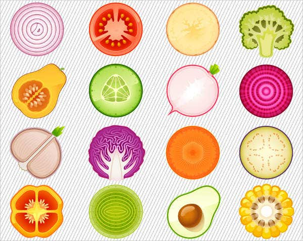 Vegetable Clipart Icons