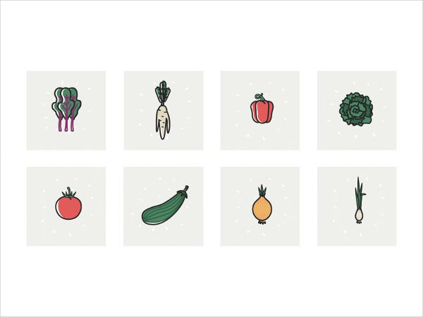 Vegetable Garden Icons