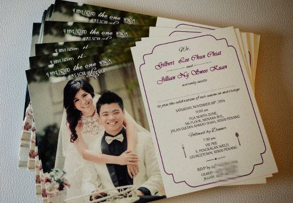 Handmade Postcard Wedding Invitation