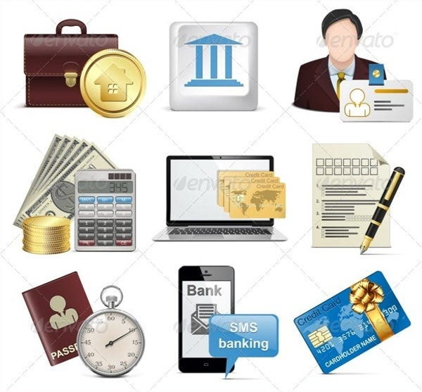 Vector Bank Icons