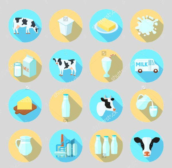 round-farm-icons-set