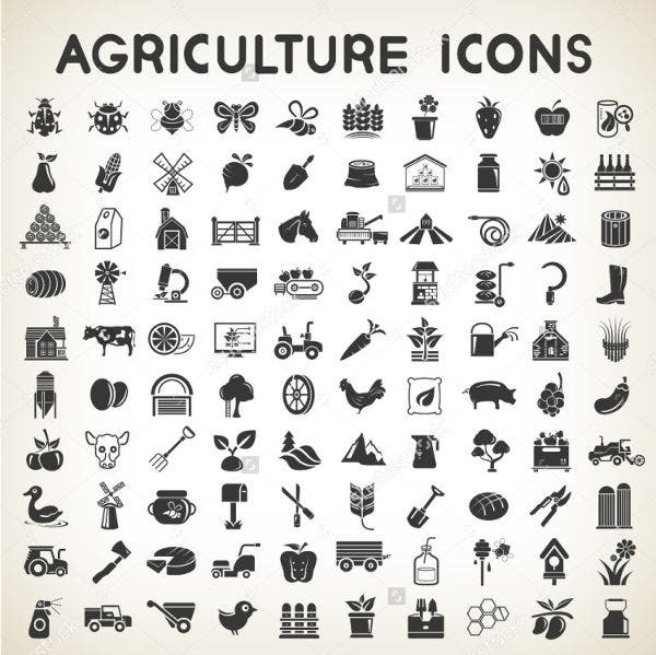 Vector Agriculture Icons