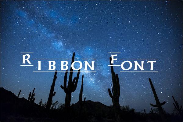 Ribbon Letters Font