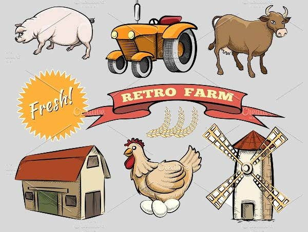 retro-farm-icons