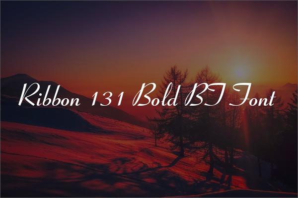 Ribbon Bold Font