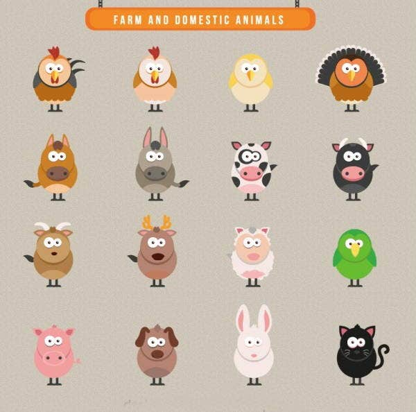 farm-domestic-animal-icons