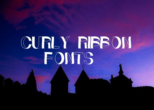 Curly Ribbon Fonts