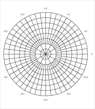Polar Graph Paper Template   Free Pdf Documents Download  Free