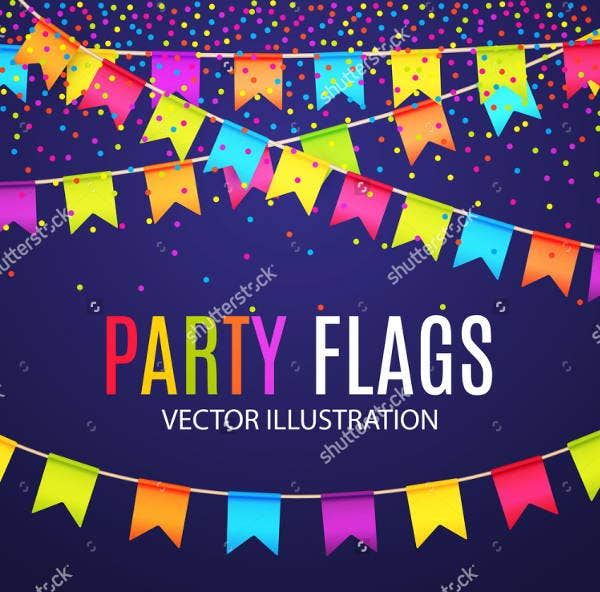 party-flag-vector