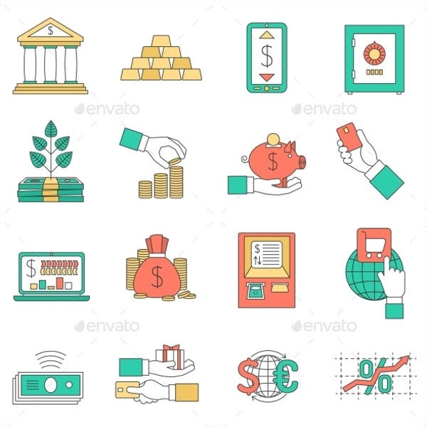 Banking Business Icons