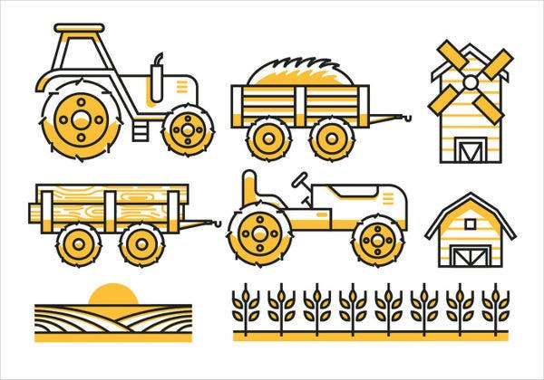 Flat Agriculture Icons