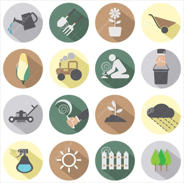 Agriculture Equipment Icons