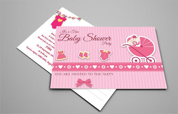 baby-girl-shower-postcard-template