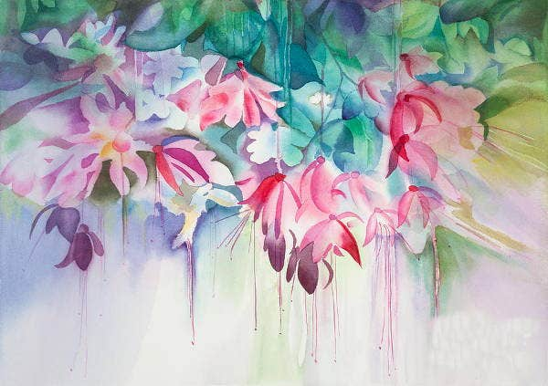 how to achieve a watercolor effect without water color
