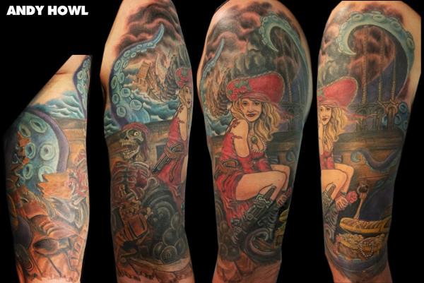 Vintage Tattoo Art on Sleeve