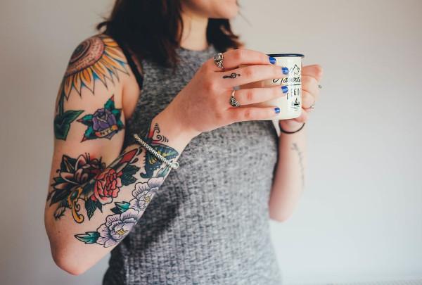 Floral Sleeve Tattoo