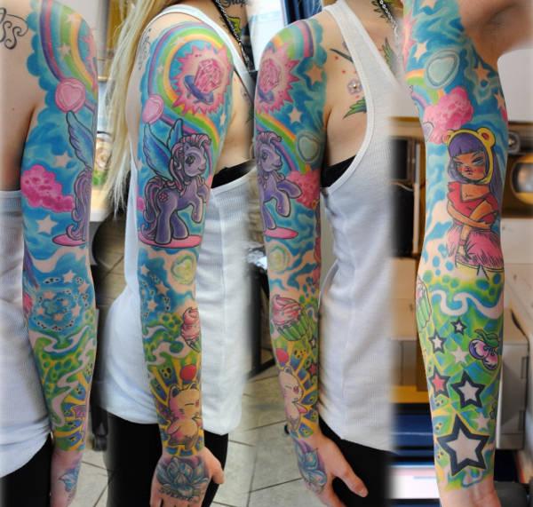 Feminine Sleeve Tattoo