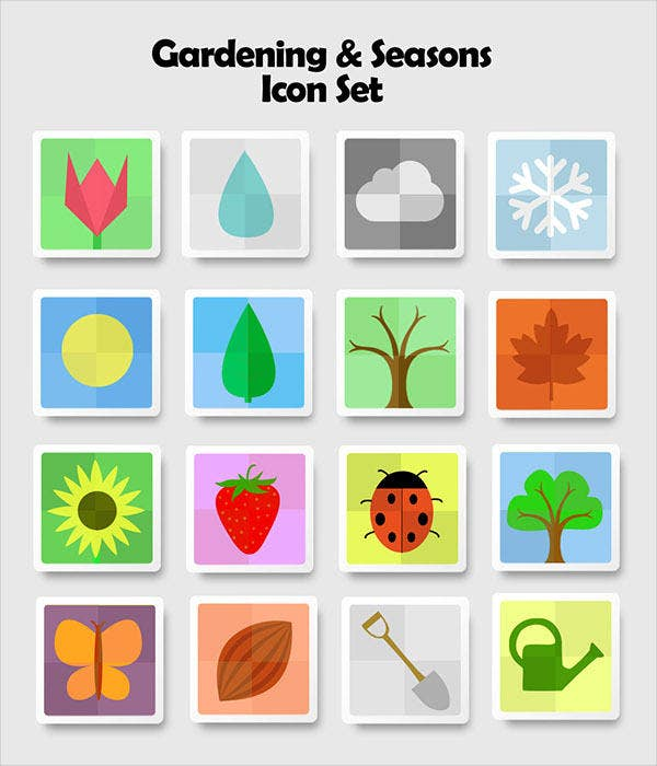 Gardening and Seasoning Icons