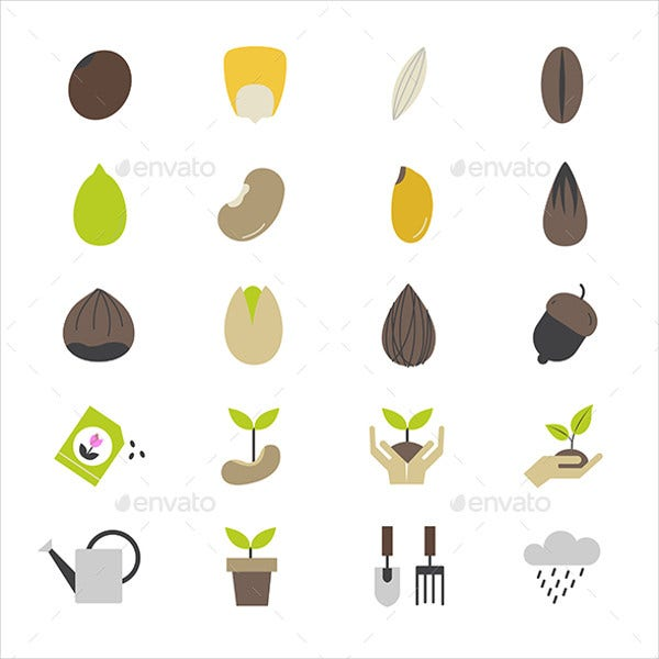 Seed and Gardening Icons