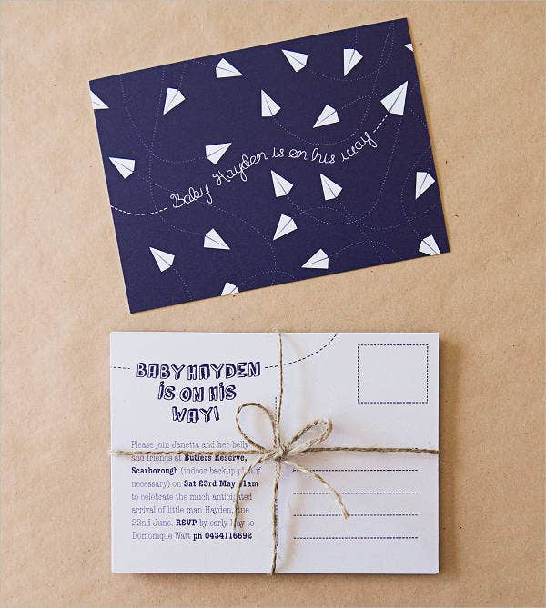 free-baby-shower-postcard-template
