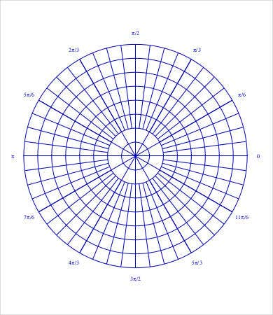 large polar graph paper
