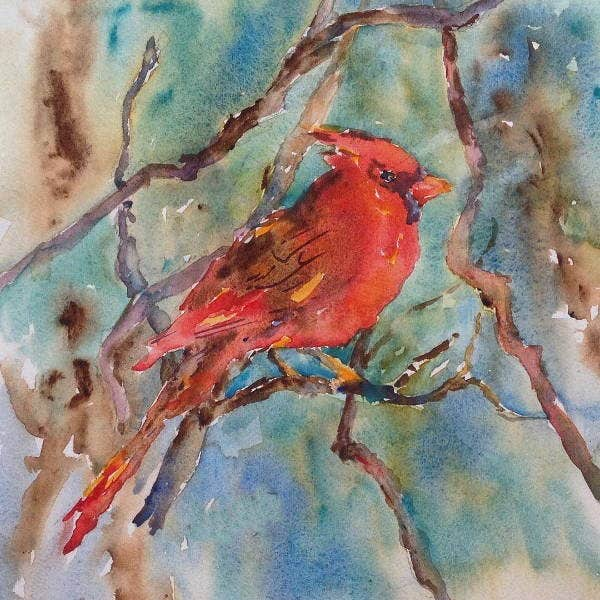 watercolour bird painting