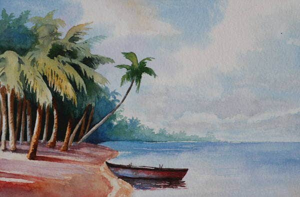 beach-watercolour-painting