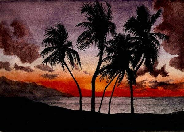 watercolour-sunset-painting