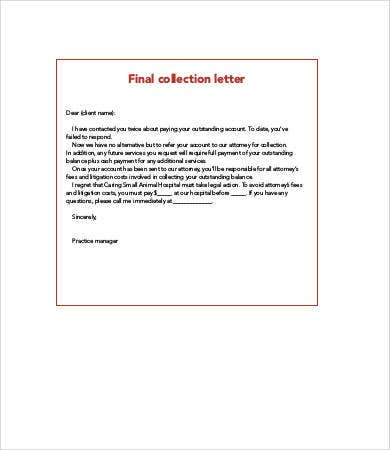 final collection letter
