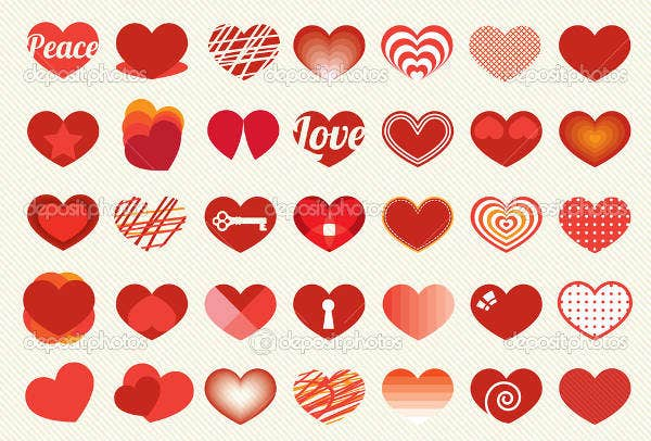 Heart and Love Labels and Icons