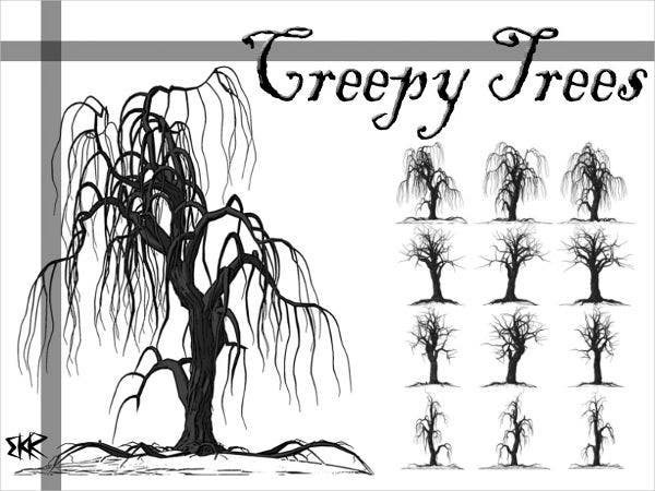 creepy tree brushes photoshop