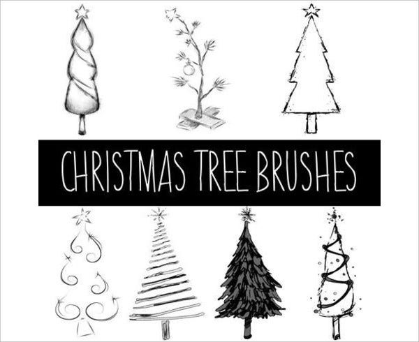 christmas tree brushes photoshop
