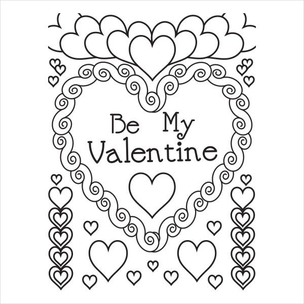 Printable Valentine'S Day Colouring Page