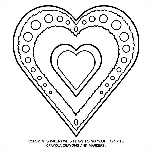 Valentine\'S Day Coloring Pages - Free PDF, JPG Format ...