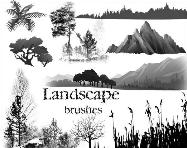 landscape tree brushes photoshop
