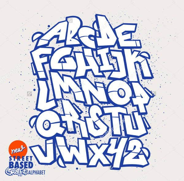 cool graffiti letter font