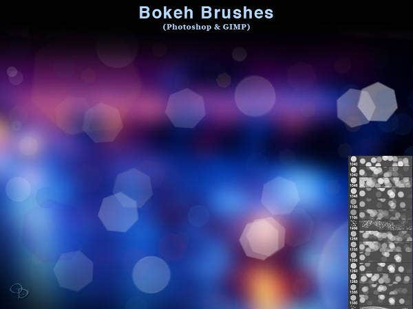 bokeh effect brushes photoshop
