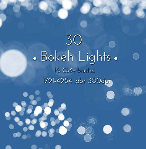 bokeh light brushes photoshop