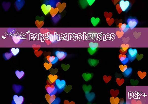 heart bokeh brushes photoshop