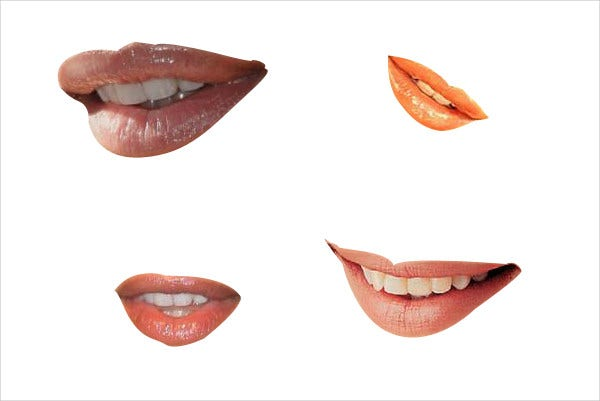 smily lips photoshop brushes